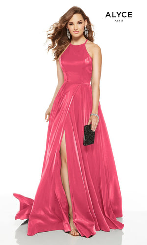 Alyce Paris 1526 prom dress images.  Alyce Paris 1526 is available in these colors: Red, Black, Bubblegum, Emerald.