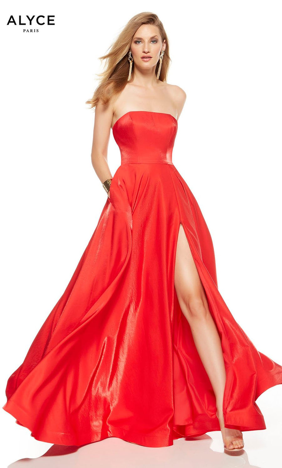 Alyce Paris 1527 prom dress images.  Alyce Paris 1527 is available in these colors: Lipstick, Black.