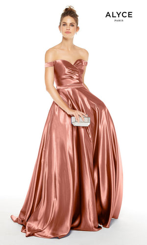 Alyce Paris 1528 prom dress images.  Alyce Paris 1528 is available in these colors: Antique Rose, Lavender Violet, Midnight, Dripping Diamonds  Silver , Pink Champagne.