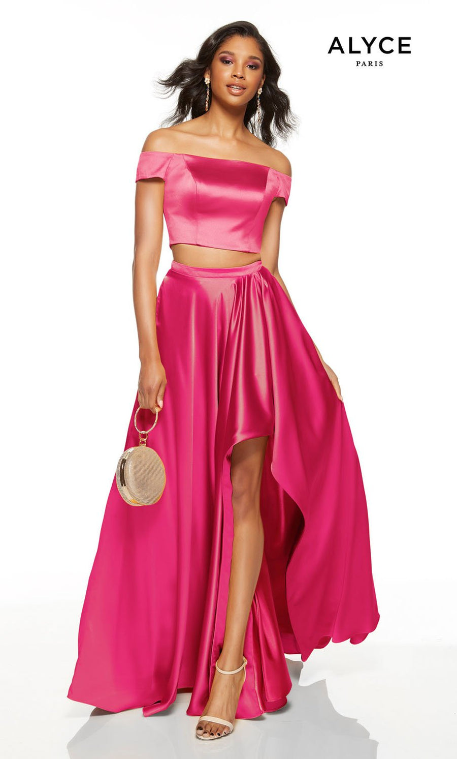 Alyce Paris 1529 prom dress images.  Alyce Paris 1529 is available in these colors: Marigold, Midnight, Hot Fuchsia.