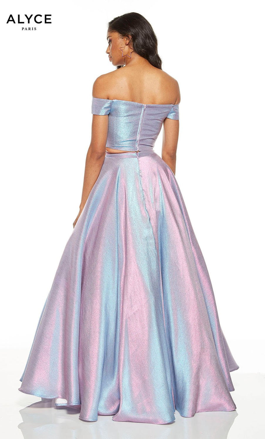 Alyce Paris 1530 prom dress images.  Alyce Paris 1530 is available in these colors: Unicorn  Violet , Marigold, Magenta.