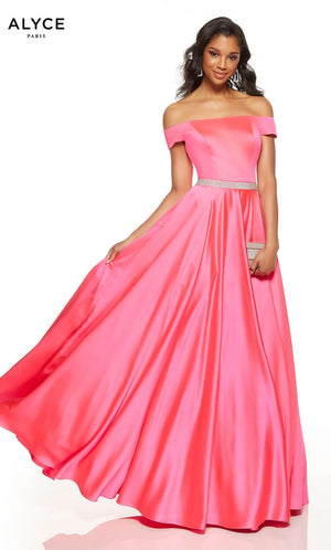 Alyce Paris 1532 prom dress images.  Alyce Paris 1532 is available in these colors: Marigold, Barbie Pink, Ice Lilac, Limoncello, Black.