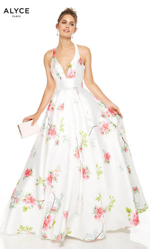 Alyce Paris 1537 prom dress images.  Alyce Paris 1537 is available in these colors: Diamond White.