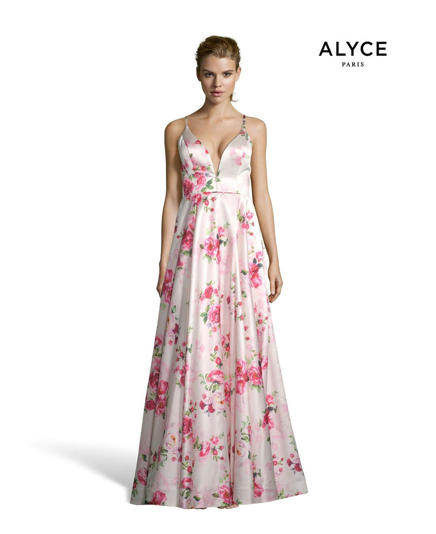 Alyce Paris 1538 prom dress images.  Alyce Paris 1538 is available in these colors: Diamond White Royal, Blush Rose.