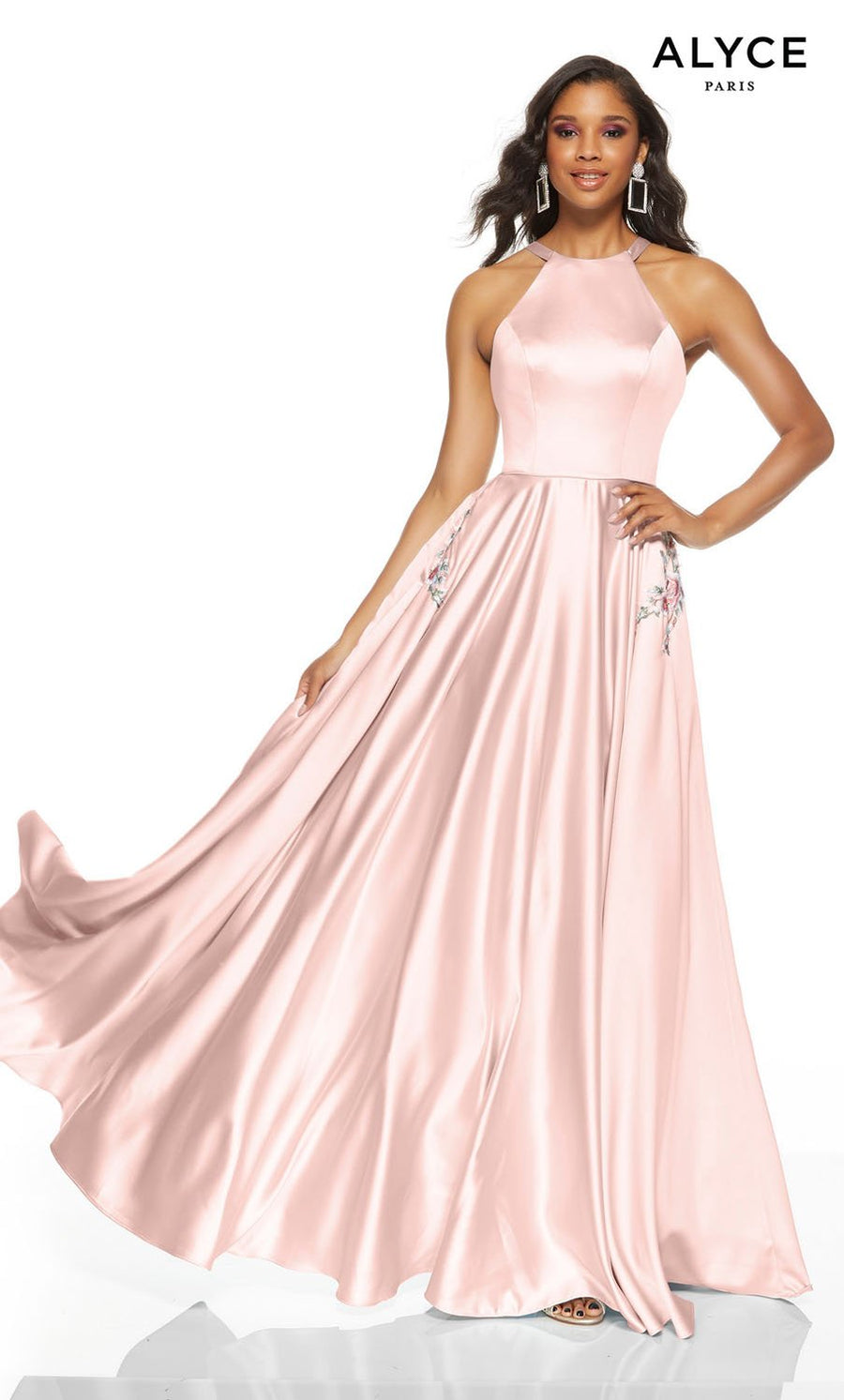 Alyce Paris 1549 prom dress images.  Alyce Paris 1549 is available in these colors: Chalk Pink, Ice Lilac, Limoncello, Ice Blue, Black, Sea Glass.