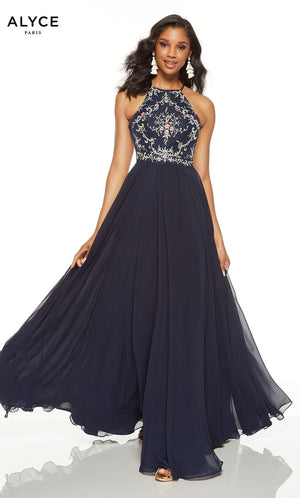 Alyce Paris 1552 prom dress images.  Alyce Paris 1552 is available in these colors: Midnight.