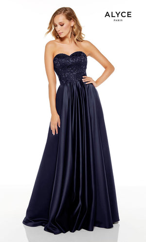 Alyce Paris 1557 prom dress images.  Alyce Paris 1557 is available in these colors: Black Cherry, Midnight.