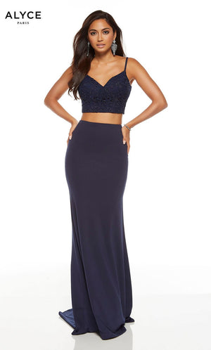 Alyce Paris 1559 prom dress images.  Alyce Paris 1559 is available in these colors: Midnight, Wine.
