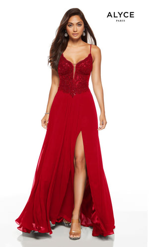 Alyce Paris 1563 prom dress images.  Alyce Paris 1563 is available in these colors: Black, Red.