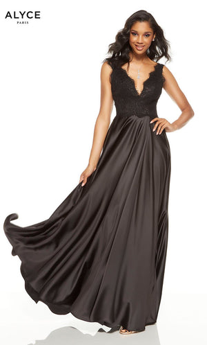Alyce Paris 1566 prom dress images.  Alyce Paris 1566 is available in these colors: Black, Diamond White.