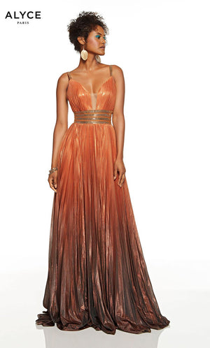 Alyce Paris 1567 prom dress images.  Alyce Paris 1567 is available in these colors: Silver, Copper.