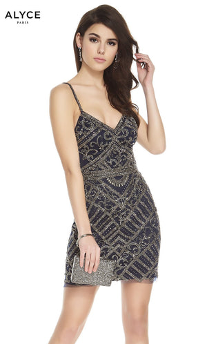 Alyce Paris 2670 prom dress images.  Alyce Paris 2670 is available in these colors: Navy.