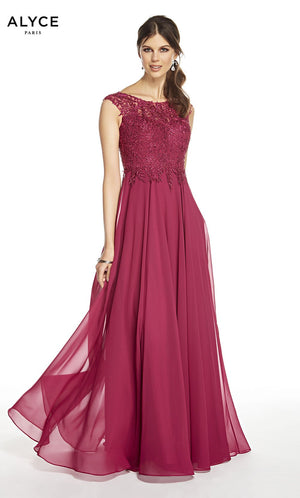 Alyce Paris 27327 prom dress images.  Alyce Paris 27327 is available in these colors: Sangria, Midnight.