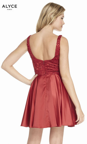Alyce Paris 3822 prom dress images.  Alyce Paris 3822 is available in these colors: Navy, Claret.