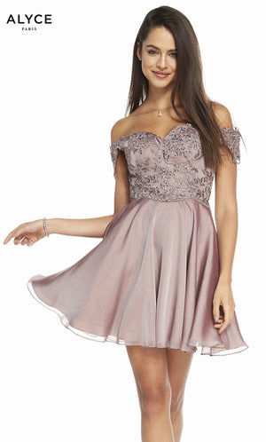 Alyce Paris 3830 prom dress images.  Alyce Paris 3830 is available in these colors: Heather.