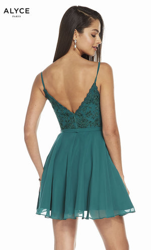 Alyce Paris 3832 prom dress images.  Alyce Paris 3832 is available in these colors: Rosewood, Pine, Mermaid.