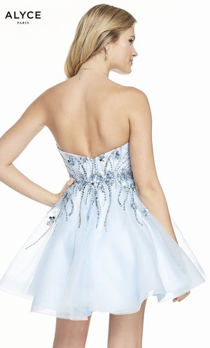 Alyce Paris 3857 prom dress images.  Alyce Paris 3857 is available in these colors: Light Blue.