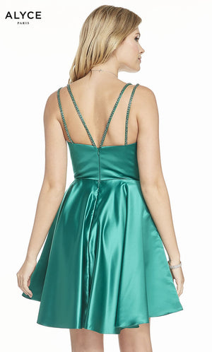 Alyce Paris 3874 prom dress images.  Alyce Paris 3874 is available in these colors: Emerald.