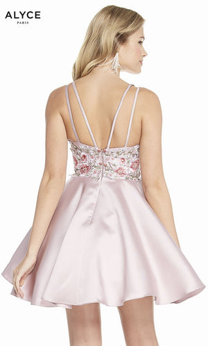 Alyce Paris 3886 prom dress images.  Alyce Paris 3886 is available in these colors: Shell, Sea Glass, Pink Alabaster, Diamond White.