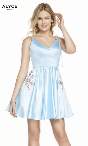 Alyce Paris 3888 prom dress images.  Alyce Paris 3888 is available in these colors: Light Blue.