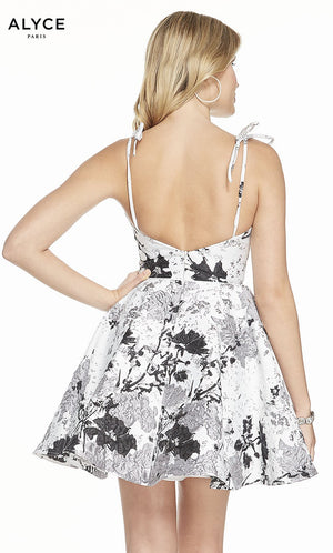 Alyce Paris 3907 prom dress images.  Alyce Paris 3907 is available in these colors: Diamond White Black.