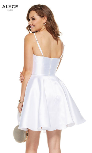 Alyce Paris 3925 prom dress images.  Alyce Paris 3925 is available in these colors: Diamond White, French Blue, Navy.