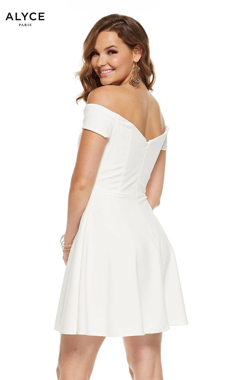 Alyce Paris 3940 prom dress images.  Alyce Paris 3940 is available in these colors: Diamond White.