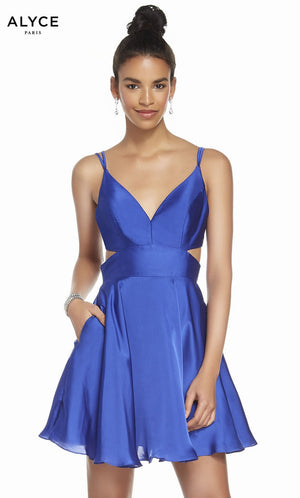 Alyce Paris 4117 prom dress images.  Alyce Paris 4117 is available in these colors: Red, Midnight, Royal, Antique Rose, Hydrngea Blue.