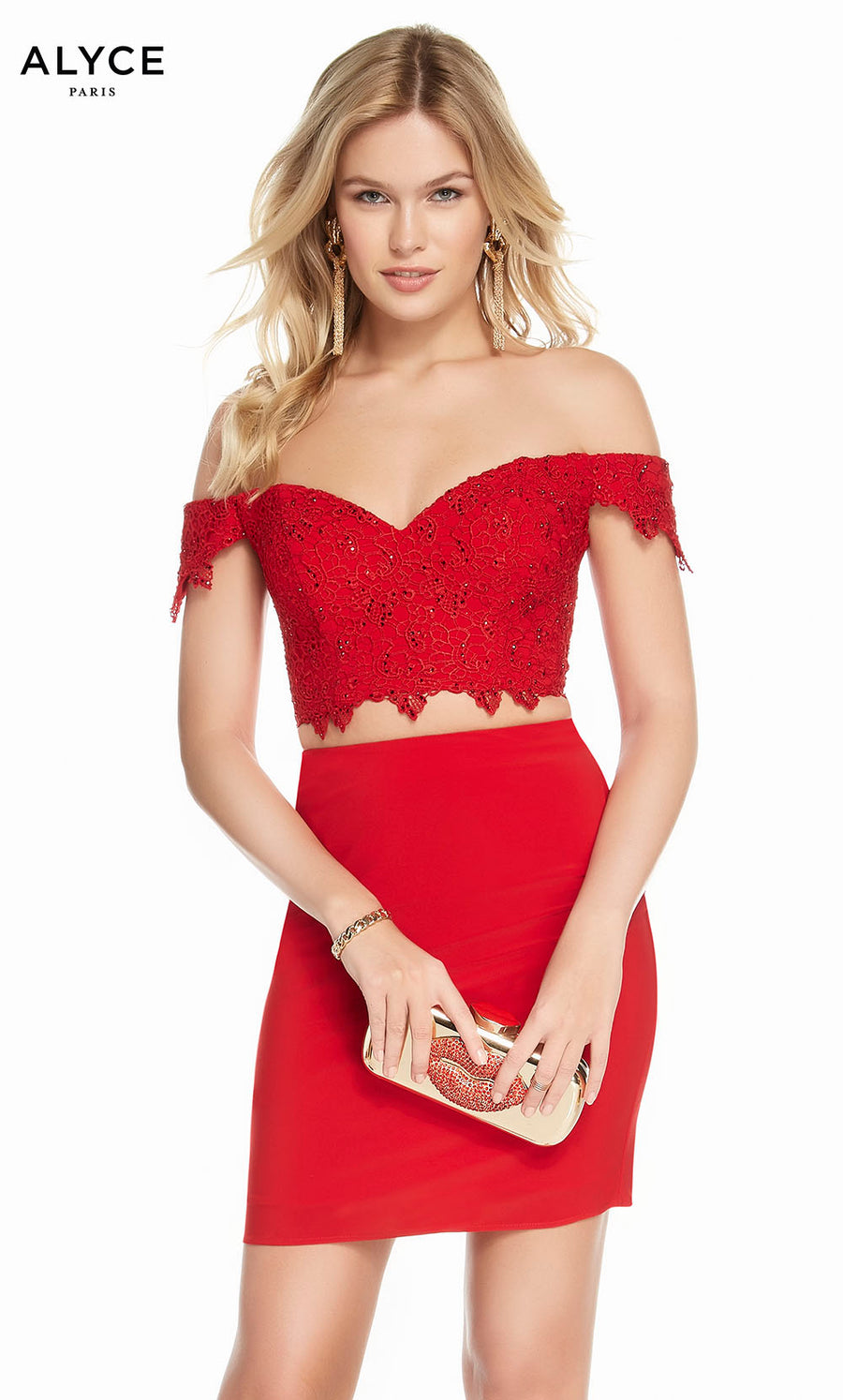Alyce Paris 4132 prom dress images.  Alyce Paris 4132 is available in these colors: Red, Black, Rosewood, Midnight.