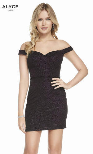 Alyce Paris 4166 prom dress images.  Alyce Paris 4166 is available in these colors: Black Plum.