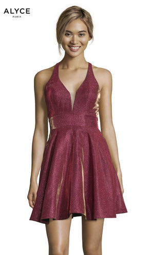 Alyce Paris 4182 prom dress images.  Alyce Paris 4182 is available in these colors: Starry Blue, Raspberry.