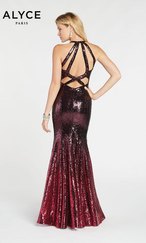 Alyce Paris 60301 prom dress images.  Alyce Paris 60301 is available in these colors: Black Cherry.