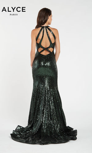Alyce Paris 60302 prom dress images.  Alyce Paris 60302 is available in these colors: Forest Green.
