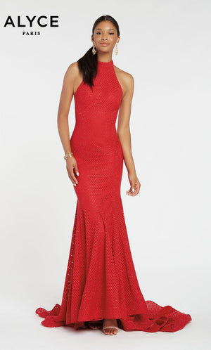 Alyce Paris 60317 prom dress images.  Alyce Paris 60317 is available in these colors: Emerald,  Rosegold,  Red.