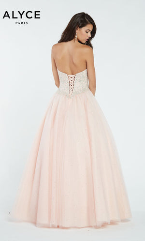 Alyce Paris 60362 prom dress images.  Alyce Paris 60362 is available in these colors: Periwinkle,  Blush.
