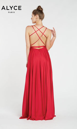 Alyce Paris 60450 prom dress images.  Alyce Paris 60450 is available in these colors: Cerise,  Santorini Blue.
