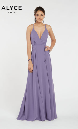 Alyce Paris 60456 prom dress images.  Alyce Paris 60456 is available in these colors: Antique Rose,  Hydrngea Blue,  Premier Blue.