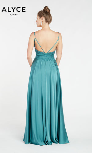 Alyce Paris 60462 prom dress images.  Alyce Paris 60462 is available in these colors: Black,  Green.