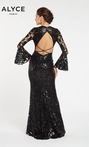 Alyce Paris 60478 prom dress images.  Alyce Paris 60478 is available in these colors: Black.