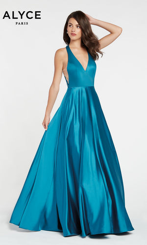 Alyce Paris 60503 prom dress images.  Alyce Paris 60503 is available in these colors: Black,  Peacock.