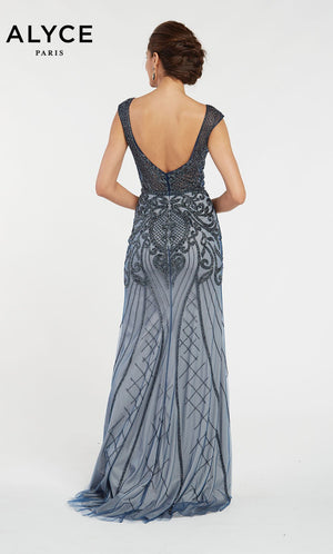 Alyce Paris 60530 prom dress images.  Alyce Paris 60530 is available in these colors: Midnight.