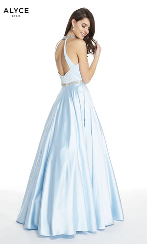 Alyce Paris 60580 prom dress images.  Alyce Paris 60580 is available in these colors: Ice Blue, Black.