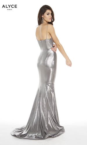 Alyce Paris 60585 prom dress images.  Alyce Paris 60585 is available in these colors: Silver.