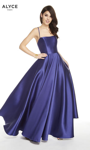 Alyce Paris 60592 prom dress images.  Alyce Paris 60592 is available in these colors: Navy, Diamond White, Black Plum.