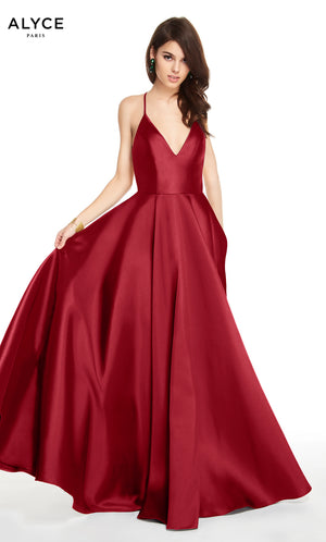 Alyce Paris 60593 prom dress images.  Alyce Paris 60593 is available in these colors: Midnight, Burgundy.
