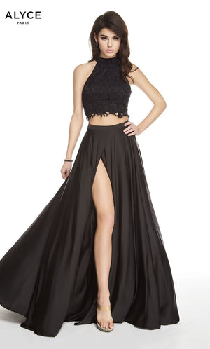 Alyce Paris 60601 prom dress images.  Alyce Paris 60601 is available in these colors: Black Solid.