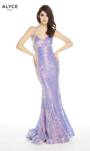 Alyce Paris 60604 prom dress images.  Alyce Paris 60604 is available in these colors: Unicorn Violet , Rosegold.