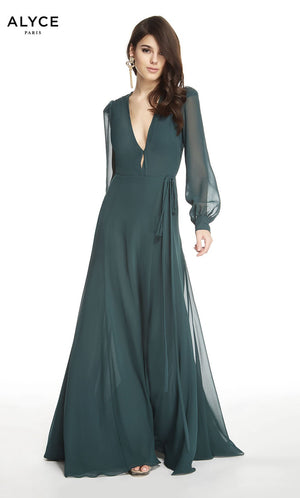 Alyce Paris 60607 prom dress images.  Alyce Paris 60607 is available in these colors: Forest Green.