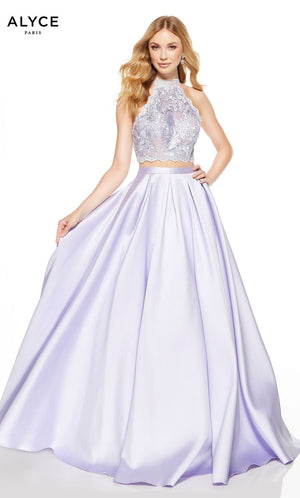 Alyce Paris 60615 prom dress images.  Alyce Paris 60615 is available in these colors: Ice Lilac Malibu, Seaglass Malibu.
