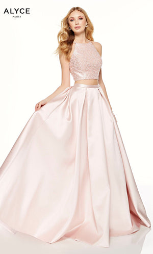 Alyce Paris 60620 prom dress images.  Alyce Paris 60620 is available in these colors: French Pink, Diamond White, Ice Lilac.